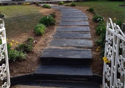 Allee dalles de schiste - Allées de jardin