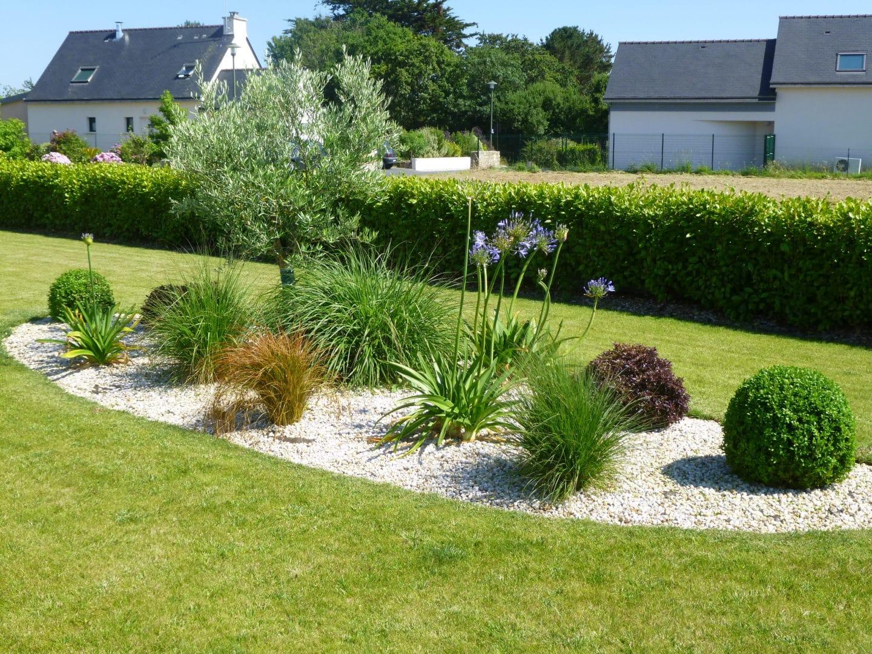 Creation de paysage entretien de jardin faites equipe avec CL Gueguen Paysage - Massifs