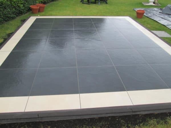 Dalle Slate Nero 60x60x2cm Lesconil - Terrasse grès cérame