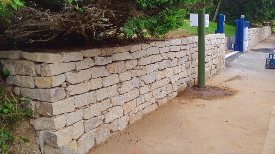 Mur muret parpaings pierres Loctudy Plobannalec Lesconil - Muret en pierre