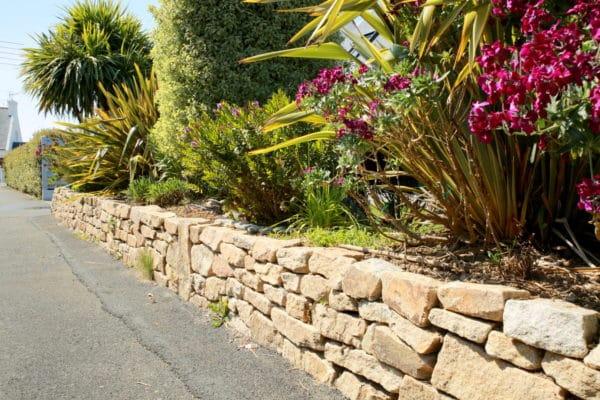 Muret pierre Loctudy - Retenue de terre en pierre