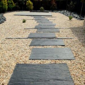 cheminement schiste Lesconil - Allées de jardin