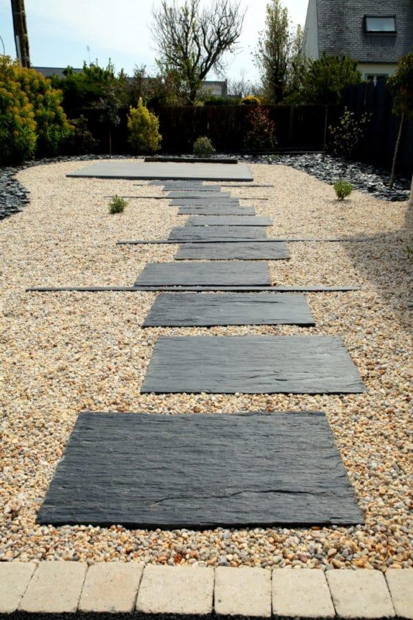 cheminement schiste Lesconil - Allées pierres naturelles